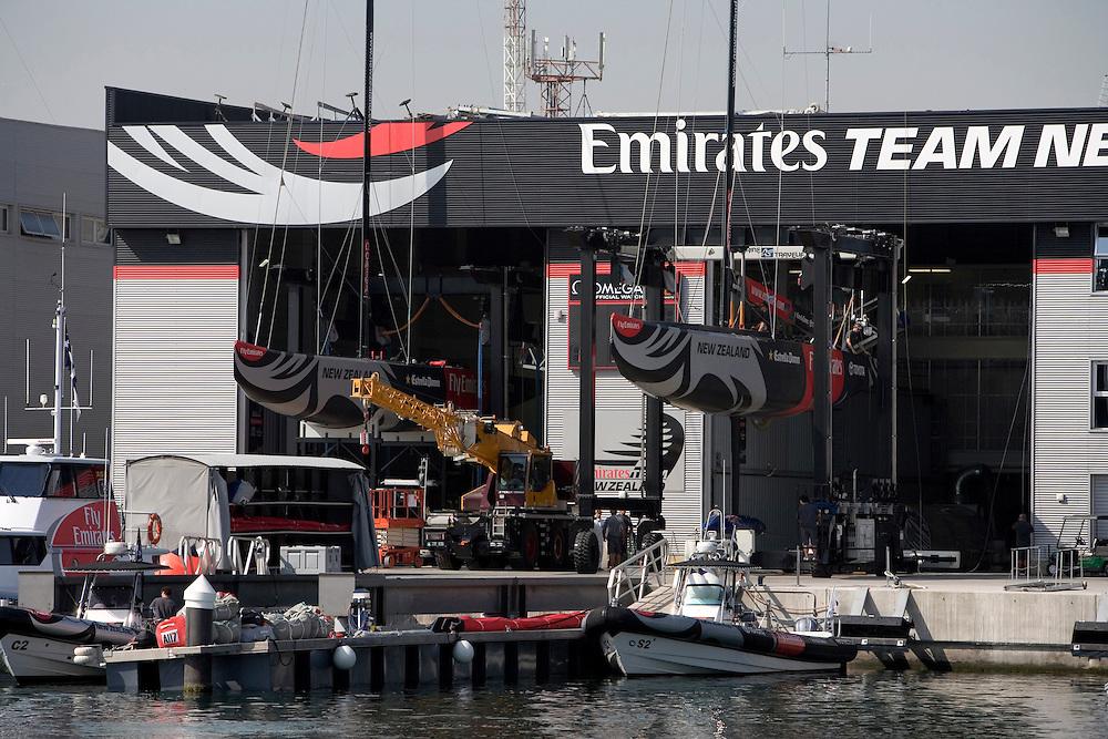 Emirates Team New Zealand base, Port America's Cup, Valencia, Spain