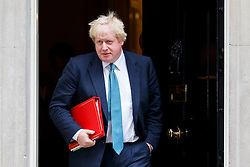 © Licensed to London News Pictures. 11/10/2016. London, UK. Foreign Secretary BORIS JOHNSON attends a cabinet meeting in Downing Street on Tuesday, 11 October 2016. Photo credit: Tolga Akmen/LNP