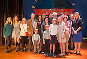 Former governor Mark White poses for a photograph with his family following a dedication ceremony at Mark White Elementary School, December 13, 2016.