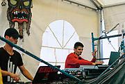 DJs in a tent at Vina Tek, Toledo, Spain 2017