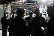 29 December-New York, NY: Newly appointed NYPD Police Officers attend the 2014 New York Police Academy Graduation Ceremony held at Madison Square Garden on December 29, 2014 in New York City.  (Photo by Terrence Jennings/terrencejennings.com)