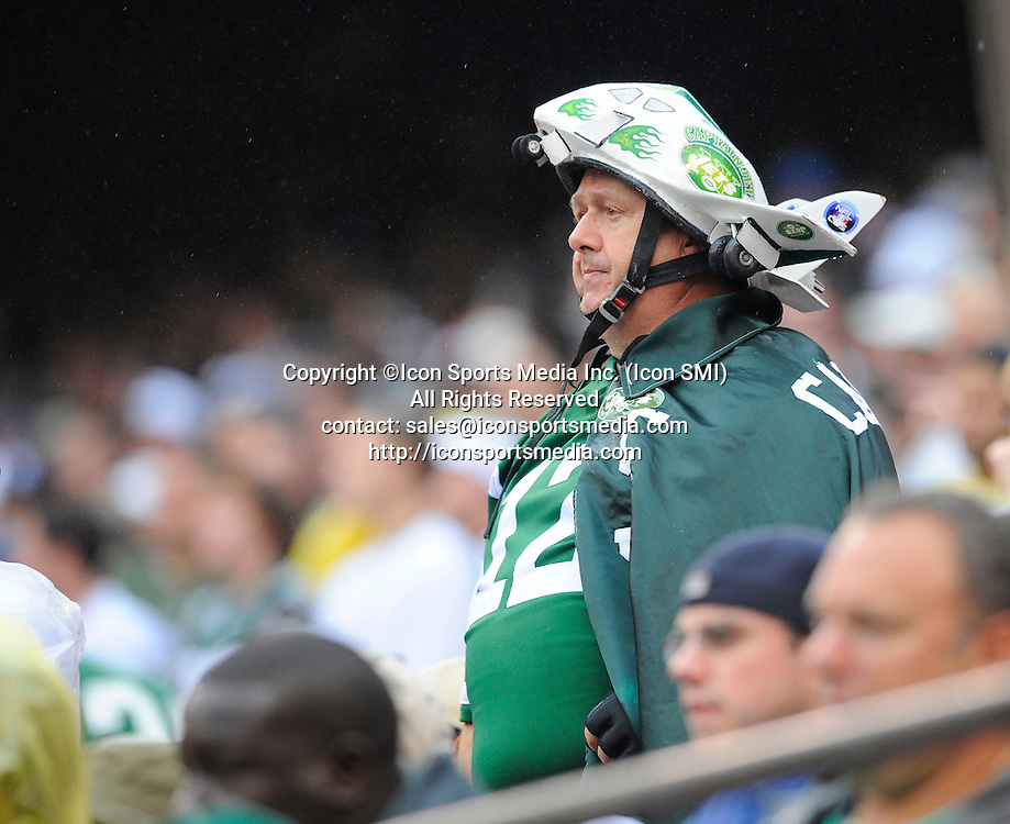 27 September 2009: New York Jets fan Captain Jet during the New York Jets 24-17 win over the Tennessee Titans at Giants Stadium in East Rutherford, NJ