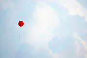Red Balloon over the skies in San Destin Florida - © Karen Pulfer Focht-ALL RIGHTS RESERVED-NOT FOR USE WITHOUT WRITTEN PERMISSION
