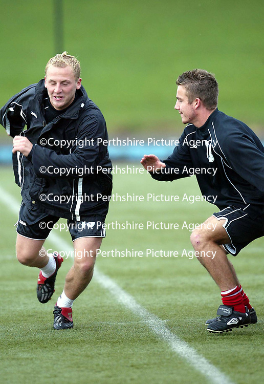 St Johnstone training..04.10.02<br />