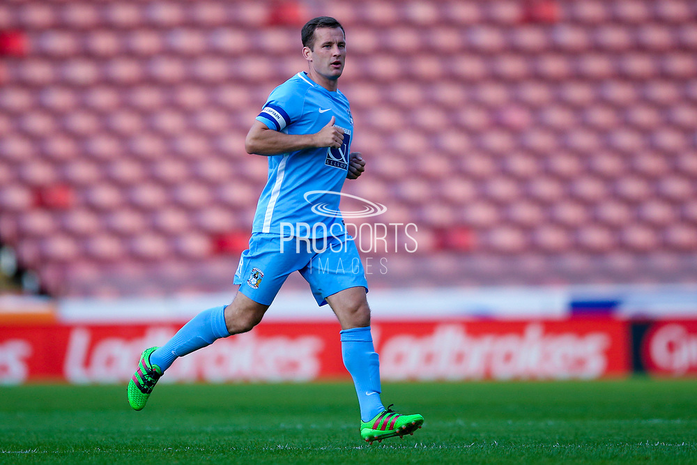 Coventry City midfielder Michael Doyle (8) in action  during the Pre-Season Friendly match between Barnsley and Coventry City at Oakwell, Barnsley, England on 18 July 2017. Photo by Simon Davies.