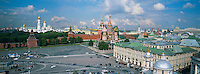Russie, Moscou, place Rouge et la cathedrale Basile le Bienheureux // Russia, Moscow, Red Square, Spasskaya Tower, St Basil's Cathedral