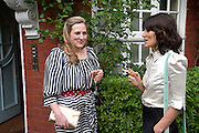 SUSIE BOYT; BELLA FREUD, Freud Museum dinner, Maresfield Gardens. 16 June 2011. <br /> <br />  , -DO NOT ARCHIVE-© Copyright Photograph by Dafydd Jones. 248 Clapham Rd. London SW9 0PZ. Tel 0207 820 0771. www.dafjones.com.