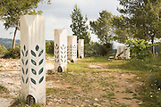 Israel, Judean Hills, Palmach Memorial on a stronghold safe guarding the road to Jerusalem. The Palmach - Strike Companies was the regular fighting force of the Haganah, the unofficial army of the Jewish community during the British Mandate of Palestine. April 2007