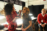 Giada De Laurentiis gets  ready for the Go Red For Women The Heart Truth Red Dress Collection 2014, made possible by Macy's and SUBWAY Restaurants, Thursday, Feb. 6, 2014, during Fashion Week in New York.  (Photo by Diane Bondareff for Go Red For Women)