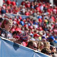Lauren Wood | Buy at photos.djournal.com<br /> A young Ole Miss fans shakes her pompon in the stands during Saturday's game at Memphis.