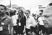 May 23-27, 2018: Monaco Grand Prix. Actor Hugh Grant and wife Anna Eberstein