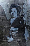 deteriorating woman wedding portrait Japan ca 1930s