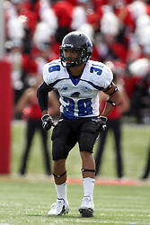 15 September 2012:  D.J. Bland during an NCAA football game between the Eastern Illinois Panthers and the Illinois State Redbirds at Hancock Stadium in Normal IL