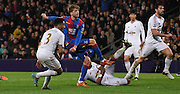 Patrick Bamford goes close for Palace during the Barclays Premier League match between Crystal Palace and Swansea City at Selhurst Park, London, England on 28 December 2015. Photo by Michael Hulf.