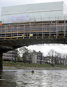 London, United Kingdom. Jessica EDDIE,   sculling under,  Barnes Rail bridge, under refurbishment  2009  Women's Wingfield Sculls, Raced over the Championship Course,  Putney to Mortlake, Thursday  05/11/2009 [Mandatory Credit Peter Spurrier/ Intersport Images]