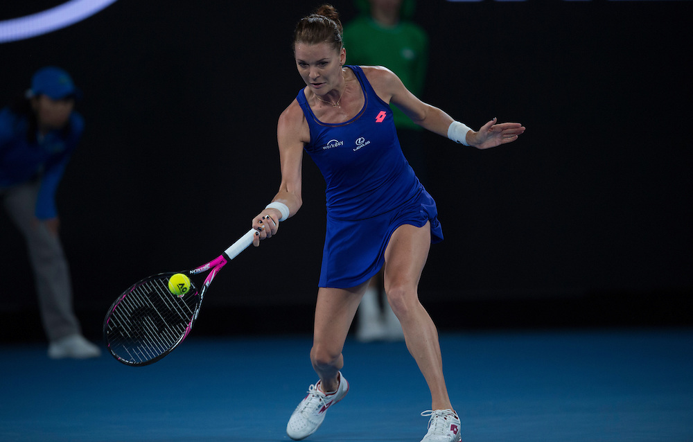 Agnieszka Radwanska of Poland on day two of the 2017 Australian Open at Melbourne Park on January 17, 2017 in Melbourne, Australia.<br /> (Ben Solomon/Tennis Australia)