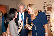Ay Tjoe Christine; Robert Travers; Mayor of Kensington and Chelsea, Indonesian Eye Contemporary Art Exhibition Reception, Saatchi Gallery. London. 9 September 2011. <br /> <br />  , -DO NOT ARCHIVE-© Copyright Photograph by Dafydd Jones. 248 Clapham Rd. London SW9 0PZ. Tel 0207 820 0771. www.dafjones.com.
