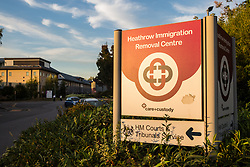 London, UK. 14 September, 2019. Heathrow Immigration Removal Centre comprises two neighbouring detention centres, Harmondsworth and Colnbrook. It is the largest detention centre in Europe and is run by the Care and Custody division of outsourcing giant Mitie.