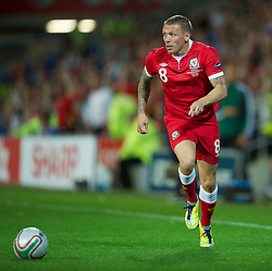 02.09.2011, Cardiff City Stadium, Cardiff, WAL, UEFA Euro 2012, Qualifier, Wales vs Montenegro, im Bild Wales' Craig Bellamy in action against Montenegro during the UEFA Euro 2012 Qualifying Group G match at the  Cardiff City Stadium, EXPA Pictures © 2011, PhotoCredit: EXPA/ Propaganda/ D. Rawcliffe *** ATTENTION *** UK OUT!
