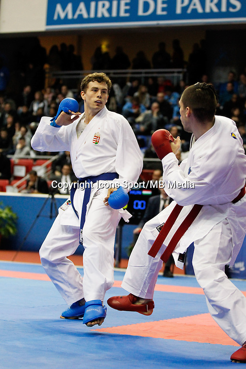 Gabor HARSPATAKI - 24.01.2015 - Open de Paris - Karate Premier League -<br />Photo : Johnny Fidelin / Icon Sport