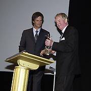 Opening Utrechts Filmfestival, premiere de Grot, staatssecretaris Rick van der Ploeg en winnaar Gouden Kalf Rene Scholten
