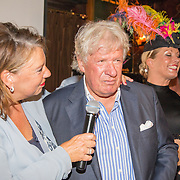 NLD/Blaricum/20160906 - Willibrord Frequin viert 75 ste verjaardag in Moeke Spijkstra, Willibrord Frequin en partner Gesina Lodewijkx