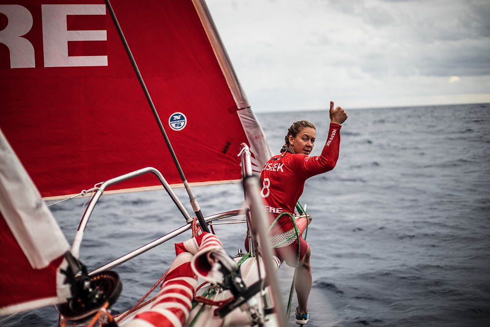 Leg 6 to Auckland, day 12 on board MAPFRE. 18 February, 2018.