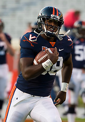 Virginia linebacker Antonio Appleby (58) warms up before the UMD game.  The Virginia Cavaliers defeated the Maryland Terrapins 31-0 in NCAA football at Scott Stadium on the Grounds of the University of Virginia in Charlottesville, VA on October 4, 2008.