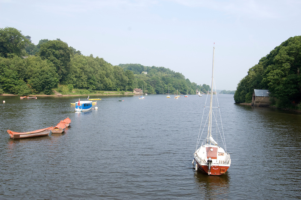 Boats on Lake Rudyard Staffordshire