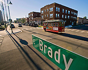 View looking West on East Brady Street in The Brady District, on Saturday, October 19, 2013, in Tulsa, Okla.<br /> <br /> http://www.thebradyartsdistrict.com/