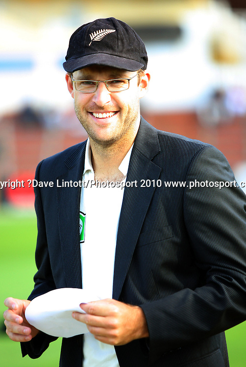 NZ captain Daniel Vettori.<br /> 1st cricket test match - New Zealand Black Caps v Australia, day one at the Basin Reserve, Wellington.Friday, 19 March 2010. Photo: Dave Lintott/PHOTOSPORT