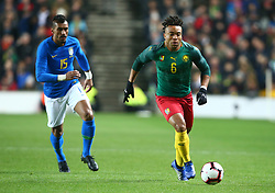 November 20, 2018 - Milton Keynes, United Kingdom - Pierre Kunde Malong of Cameroon .during Chevrolet Brazil Global Tour International Friendly between Brazil and Cameroon at Stadiummk stadium , MK Dons Football Club, England on 20 Nov 2018. (Credit Image: © Action Foto Sport/NurPhoto via ZUMA Press)