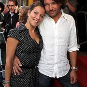 NLD/Amsterdam/20080901 - Premiere film Bikkel over het leven van Bart de Graaff, Evelien de Bruijn en partner Erik