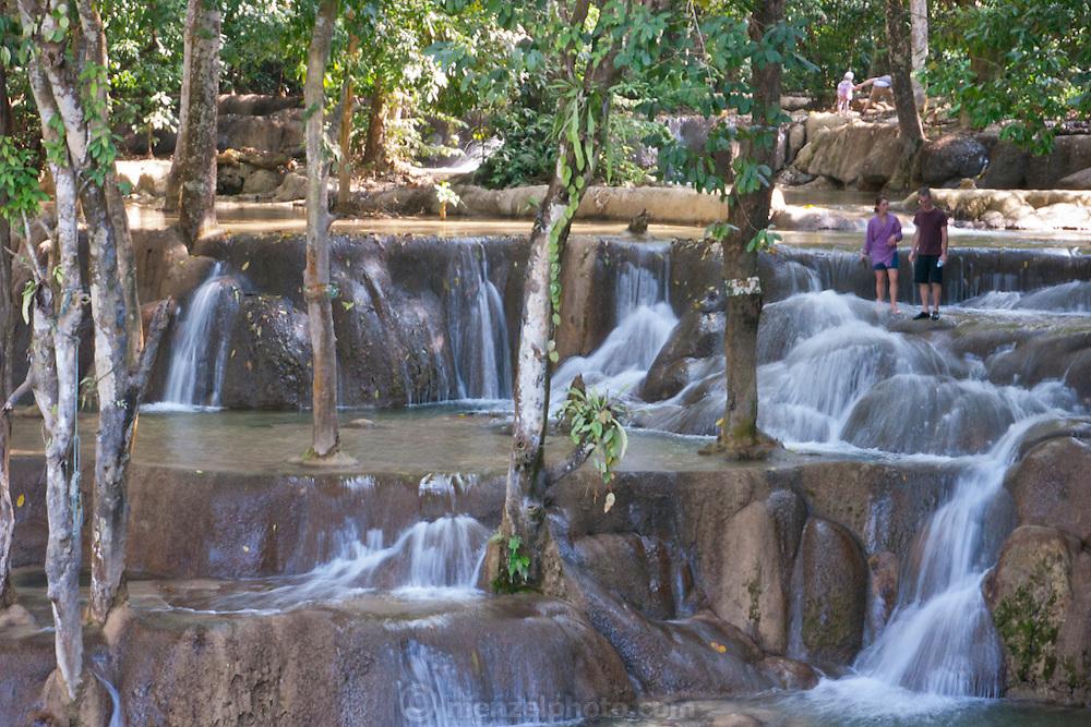 At Tad Sae Waterfall, near Luang Prabang, Laos.
