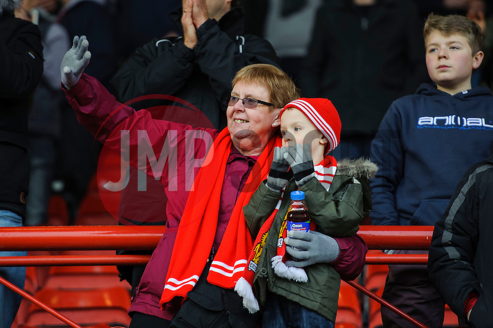 A young Bristol City fan claps after his sides 2-1 win - Photo mandatory by-line: Rogan Thomson/JMP - 07966 386802 - 01/03/2014 - SPORT - FOOTBALL - Ashton Gate, Bristol - Bristol City v Gillingham - Sky Bet League One.