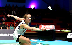Nicky Cerfontyne of Bristol Jets plays a shot - Photo mandatory by-line: Robbie Stephenson/JMP - 07/11/2016 - BADMINTON - University of Derby - Derby, England - Team Derby v Bristol Jets - AJ Bell National Badminton League