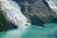 Berg Glacier flowing into Berg Lake, Mt. Robson Provincial Park British Columbia Canada