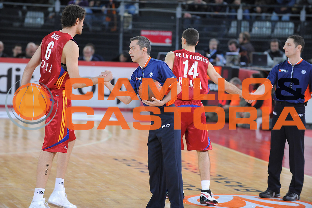 DESCRIZIONE : Roma Eurolega 2008-09 Lottomatica Virtus Roma Panathinaikos Atene<br /> GIOCATORE : <br /> SQUADRA : Lottomatica Virtus Roma<br /> EVENTO : Eurolega 2008-2009<br /> GARA : Lottomatica Virtus Roma Panathinaikos Atene<br /> DATA : 26/02/2009<br /> CATEGORIA : Fair Play<br /> SPORT : Pallacanestro<br /> AUTORE : Agenzia Ciamillo-Castoria/G.Ciamillo