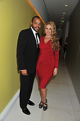 DONALD FAISON and CACEE COBB at an after show party following the opening night of All New People held at the St.Martin's Lane Hotel, London on 28th February 2012.