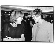emma Soames and Germaine Greer. Punch party. Harrods. 1996.© Copyright Photograph by Dafydd Jones 66 Stockwell Park Rd. London SW9 0DA Tel 020 7733 0108 www.dafjones.com
