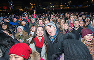 revellers take in Hogmanay at the princess Street Gardens, Edinburgh. 2016