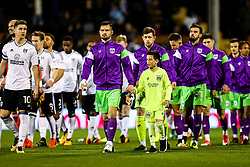 Tom Cairney of Fulham and Bailey Wright of Bristol City lead out the teams - Rogan/JMP - 31/10/2017 - Craven Cottage - London, England - Fulham FC v Bristol City - Sky Bet Championship.