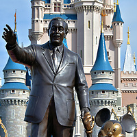 Partners Statue on Main Street U.S.A. at Magic Kingdom in Orlando, Florida <br />