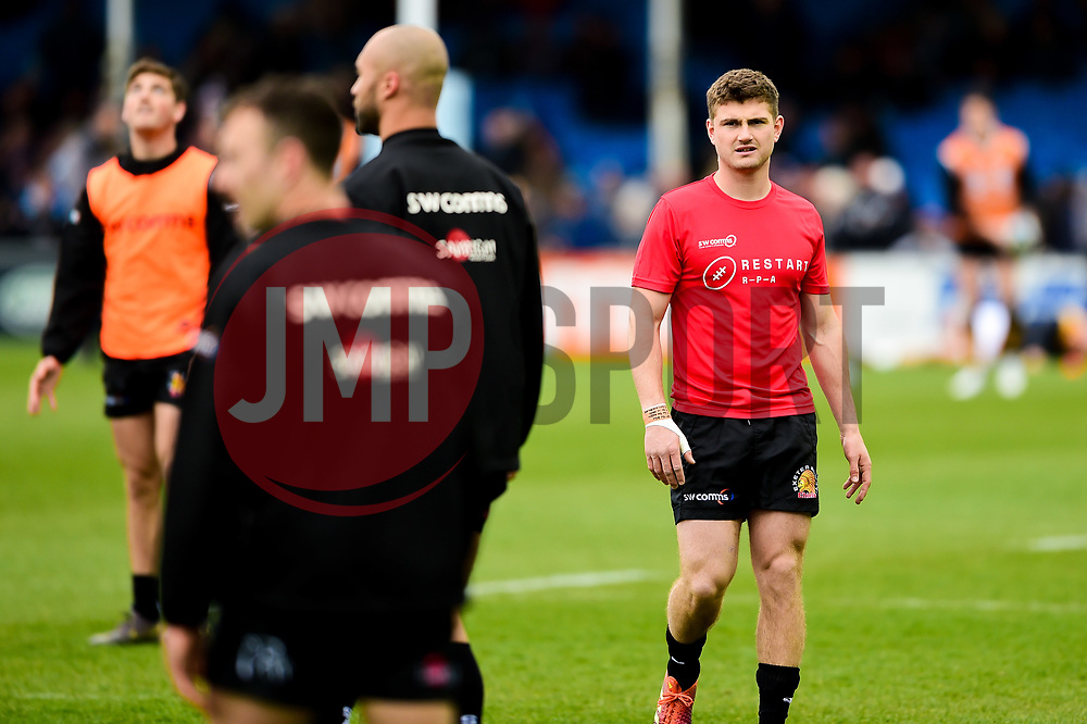 Jack Maunder of Exeter Chiefs prior to kick off - Mandatory by-line: Ryan Hiscott/JMP - 14/04/2019 - RUGBY - Sandy Park - Exeter, England - Exeter Chiefs v Wasps - Gallagher Premiership Rugby