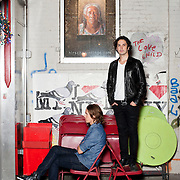 """October 9: 2013 - New York; NY : The Norwegian comedy duo / variety artists Ylvis; consisting of brothers Bård; left; and Vegard Ylvisåker; pose for a portrait outside of the restaurant La Esquina on Kenmare St. in Manhattan on Wednesday night. The pair gained international attention when their song """"The Fox"""" went viral on YouTube in September. CREDIT: Karsten Moran for The New York Times"""