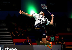Ben Lane of Bristol Jets jumps to hit a smash shot - Photo mandatory by-line: Robbie Stephenson/JMP - 07/11/2016 - BADMINTON - University of Derby - Derby, England - Team Derby v Bristol Jets - AJ Bell National Badminton League