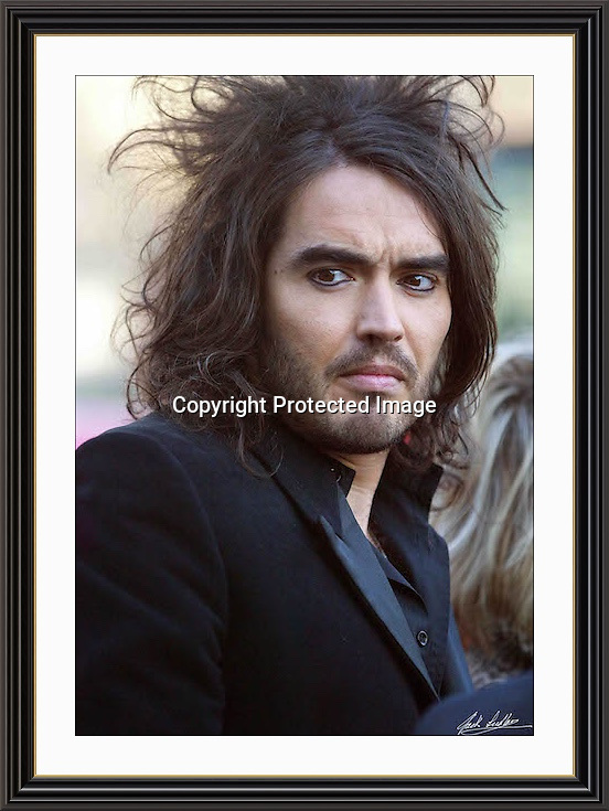 RUSSELL BRAND jan 2007 Museum-quality Large A2 Archival signed Framed Print (Limited Edition of 25)