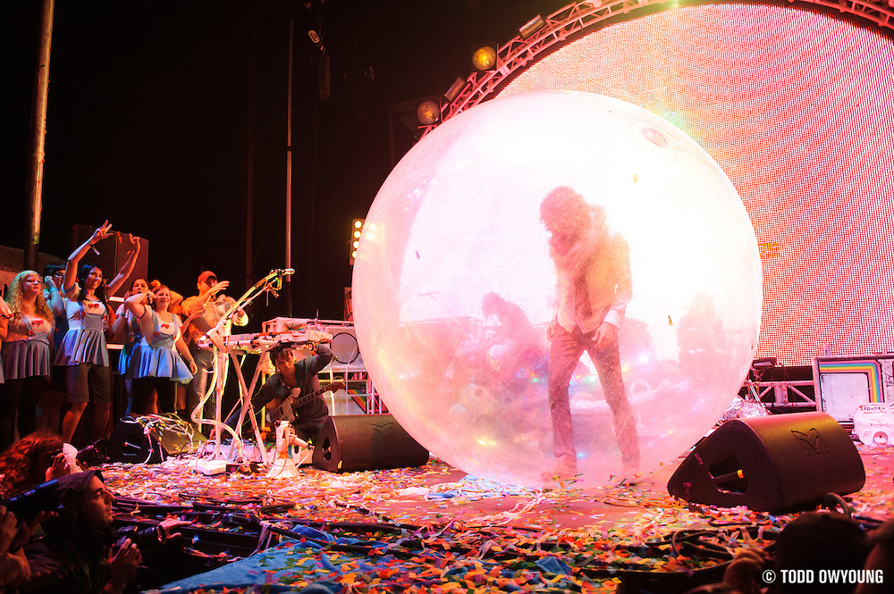 The Flaming Lips performing at LouFest in St. Louis on August 26, 2012