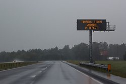 September 14, 2018 - Johnston County, North Carolina, U.S. - Deserted highway in Johnston County, NC as residents take shelter from the approach of Hurricane Florence. (Credit Image: © Michael Candelori/ZUMA Wire)