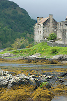Eilean Donan Castle along the shortes of Loch Duich Scotland